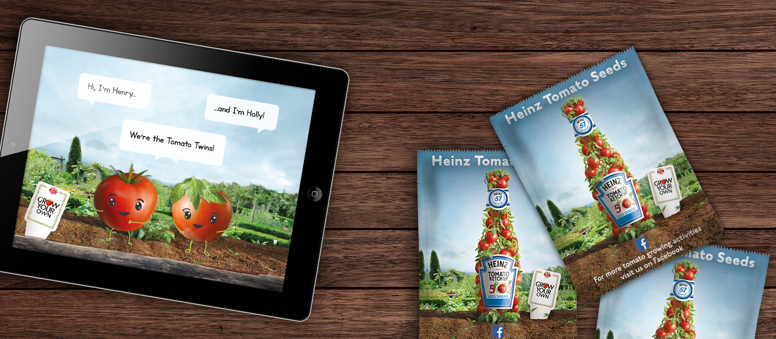 Tablet and seed packs for Heinz
